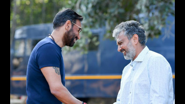 Ajay Devgn Begins Shooting For SS Rajamouli's RRR; Actor-Director Duo Share A Happy Moment