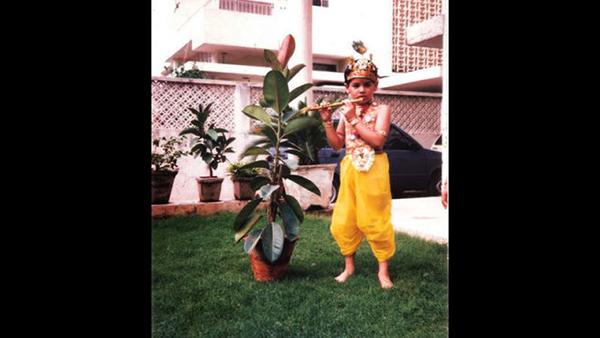Look At Sid Dressed Up As Krishna