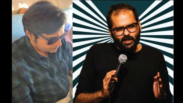 VIDEO: Kunal Kamra Heckles Arnab Goswami On Flight