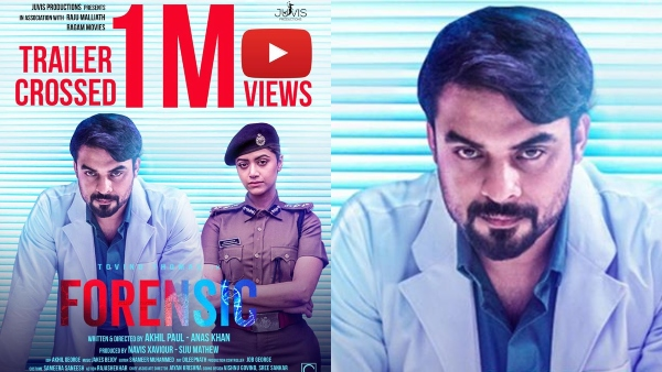 Tovino Thomas S Forensic The Official Trailer Crosses 1 Million Views Filmibeat