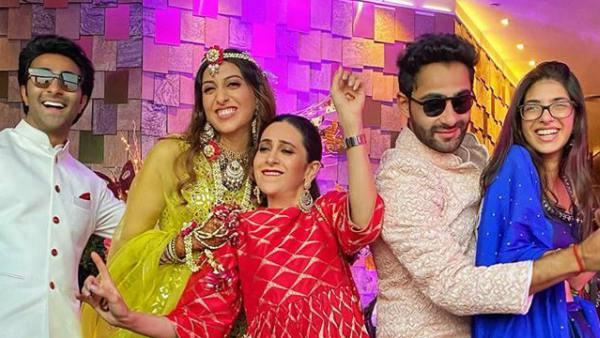 Karisma Kapoor Dances With Daughter At Armaan Jain's Sangeet