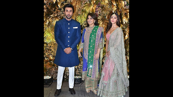 Neetu Kapoor Showers Newly Weds Armaan Jain & Anissa Malhotra With Blessings