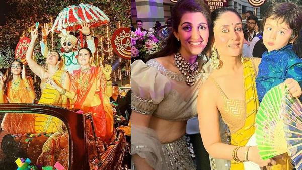Armaan Jain's Wedding: Karisma & Kareena Kapoor Are The Coolest Baraatis; Taimur Steals The Show