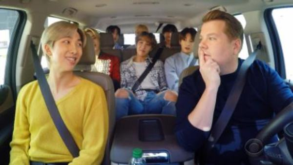 Watch BTS' Carpool Karaoke With James Corden; Twitter Goes Crazy For Jin And Jimin