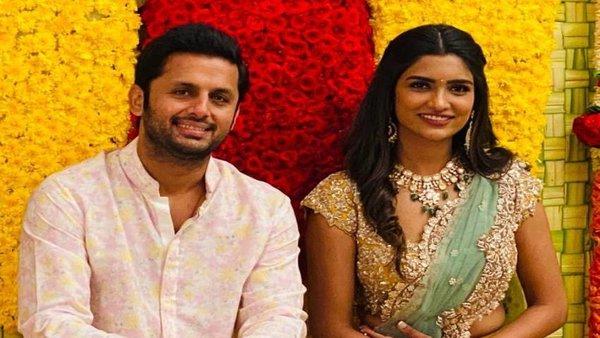 Nithiin Gets Engaged To Girlfriend Shalini In Grand Pasupu Kumkuma Ceremony; See Pics