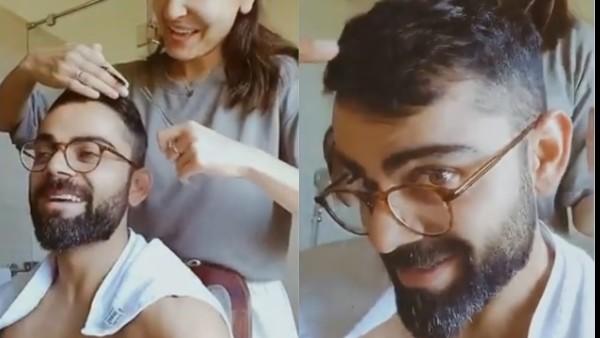 Anushka Sharma Gives Virat Kohli A Haircut Amid Lockdown; His Hilarious Reaction Is Relatable!