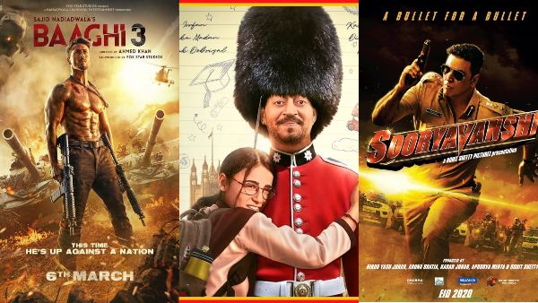 Bollywood Releases To Watch Out For In March 2020: Sooryavanshi, Baaghi 3 And Angrezi Medium