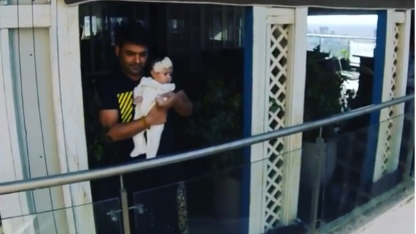Kapil Sharma With His Little Daughter
