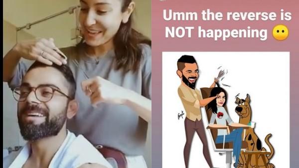 Sorry Virat Kohli, Anushka Sharma Doesn't Want You To Return The Haircut Favour!