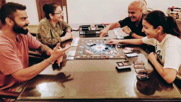 Pic Talk: Anushka Sharma And Virat Kohli Play The Best Game To Kill Time During Lockdown