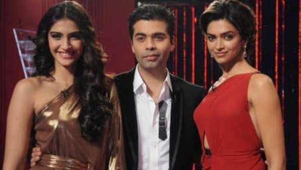 KWK- Deepika Padukone and Sonam Kapoor