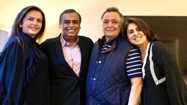 Rishi Kapoor's Wife Neetu Kapoor Thanks Mukesh Ambani & Family: 'You Have Been Our Guardian Angels'