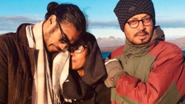 Irrfan Khan With Wife Sutapa And Son Babil