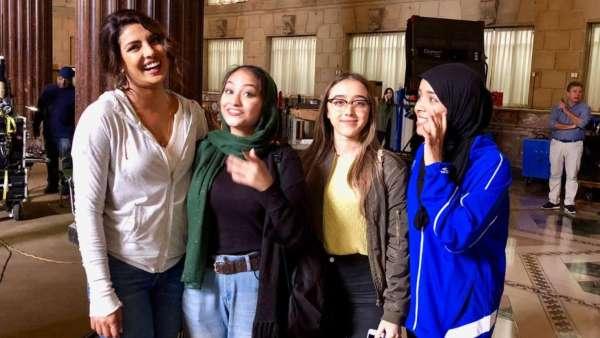 Priyanka With Fans On Quantico Set