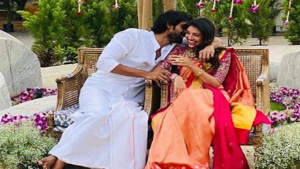 Rana Daggubati On Kissing Miheeka Bajaj After Roka Ceremony