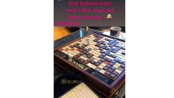 Riddhima And Neetu's Scrabble Game