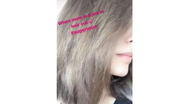 Riddhima's New Hairstyle