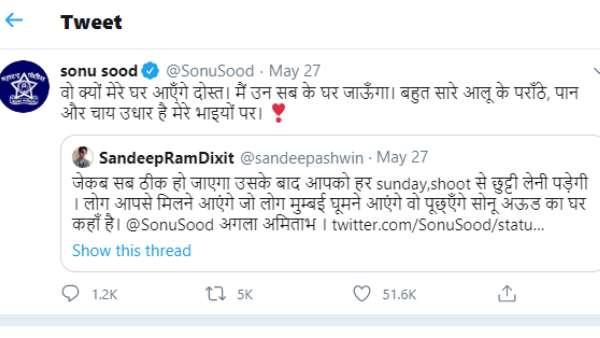 Sonu Sood's Tweet