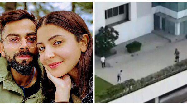 Anushka And Virat Play Cricket Outside Their Home: VIDEO