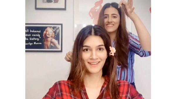 Kriti Sanon Gets A Drastic Haircut From Her Sister Nupur