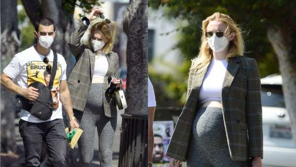 Sophie Turner Flaunts Baby Bump During Stroll With Joe Jonas In LA