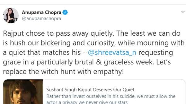 Anupama Chopra's Tweet