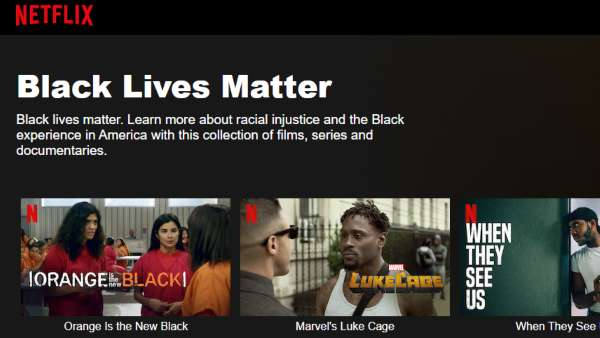 Netflix Curates Black Lives Matter Collection