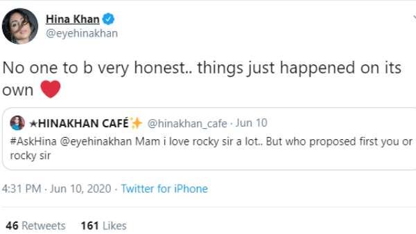 Hina Khan's Tweet