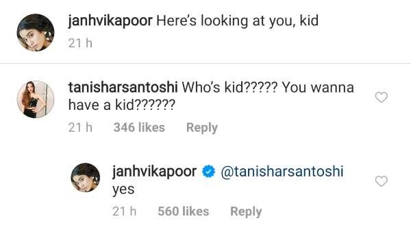Janhvi Kapoor's Comment