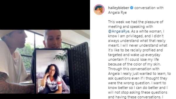 Hailey Baldwin's Post