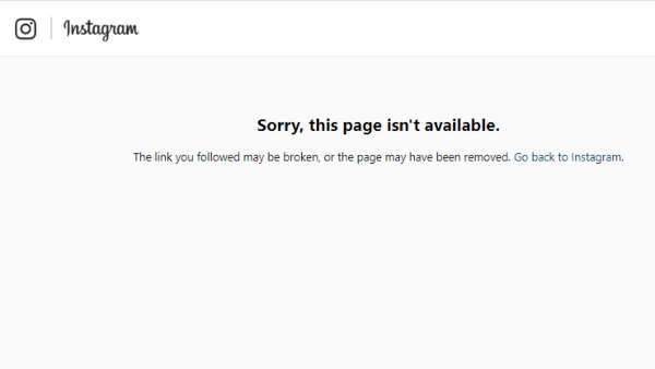 Shweta's Instagram Profile Is Unavailable