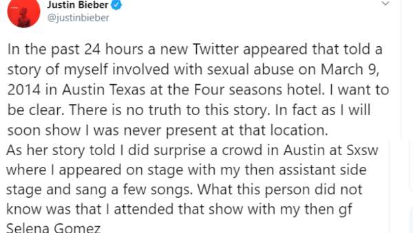 Justin Has Denied All Allegation And Plans On Taking Legal Action