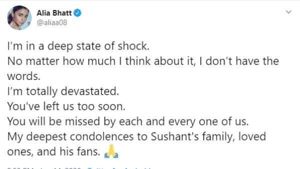Alia Bhatt's Tweet