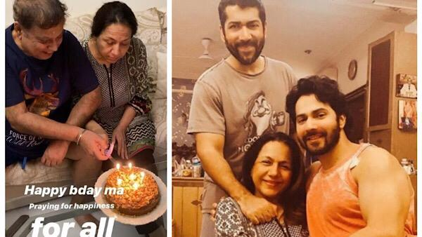 VIDEO: Varun Dhawan Celebrates His Mother's Birthday At Home