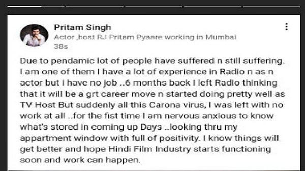 Pritam Singh Says The Pandemic Has Rendered Him Jobless