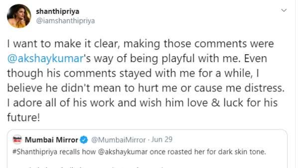 Shantipriya's Tweet