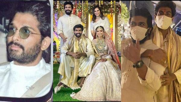 Rana & Miheeka Get Married: Ram Charan & Allu Arjun Attend