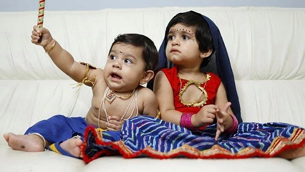 Yash's Kids Ayra And Ayush Look Adorable As Krishna-Radha!