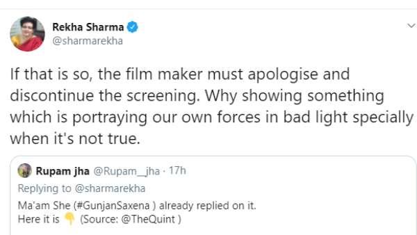 Rekha Sharma's Tweet