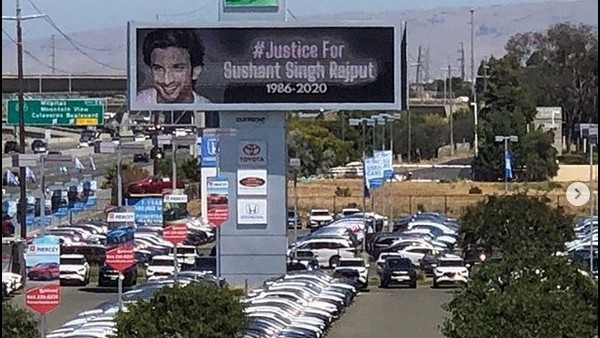 Shweta Shares A Photo Of Sushant's Billboard In California