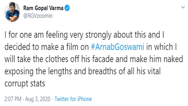 When RGV Thought Of Making A Film On Arnab Goswami