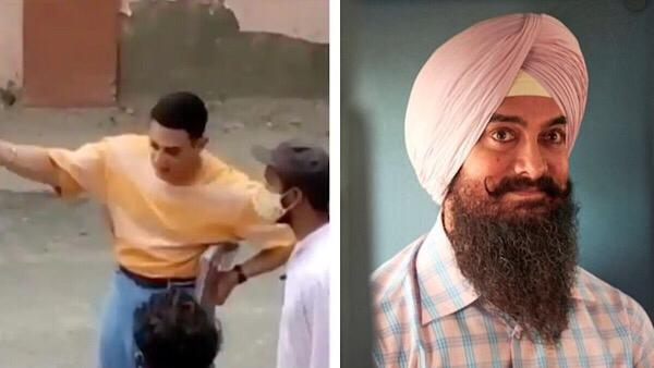 Aamir Khan Spotted Shooting For Laal Singh Chaddha