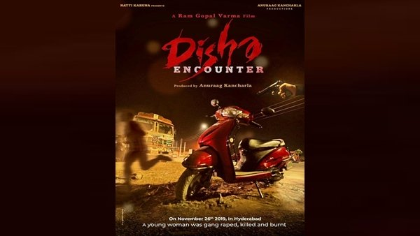 RGV Releases First Look Poster Of His Next Film Disha Encounter Based On Hyderabad Gang Rape Case