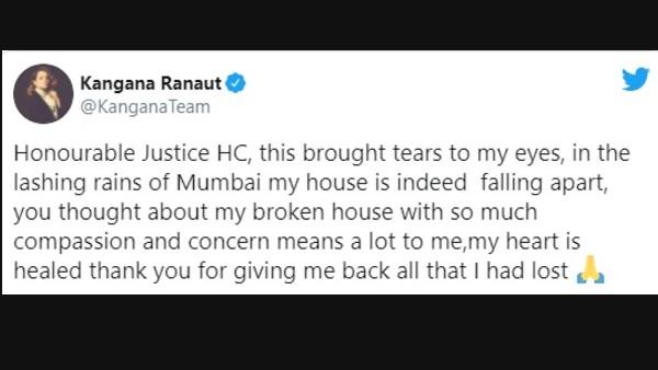 Kangana Ranaut Tears Up