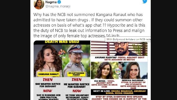 Nagma Takes A Jibe At Kangana Ranaut
