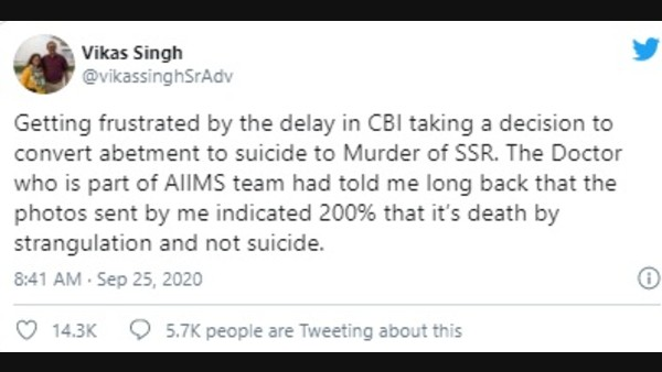 Sushant's Family Lawyer Dismisses The Suicide Theory