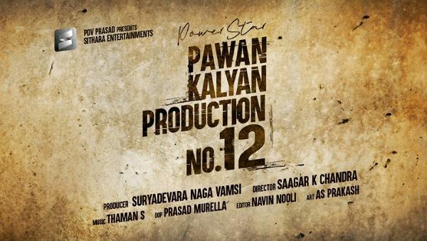 Pawan Kalyan's Next Titled Production No 12 Announced!