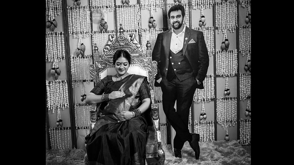 Meghana Raj's Baby Shower Picture With Chiranjeevi Sarja's Cutout Goes Viral On Social Media