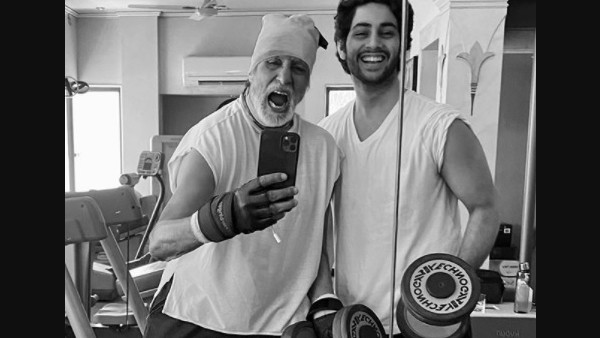 When Agastya Hit The Gym With His Grandpa