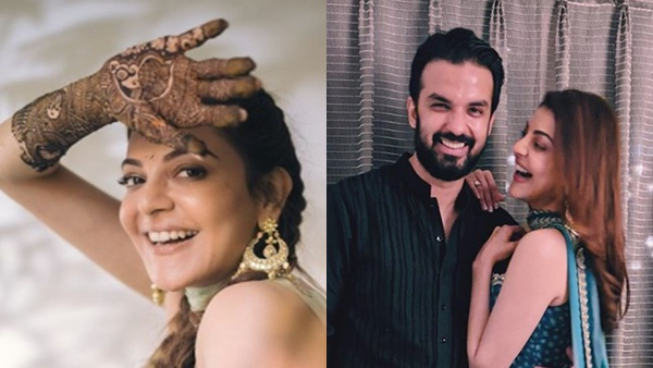 Kajal Aggarwal's Marriage: Actress Flaunts Mehendi With Smile; Gautam Kitchlu Shares Pics From Puja
